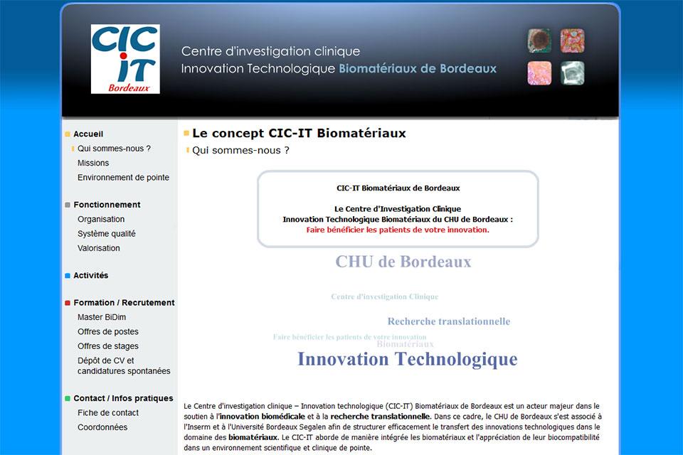 CIC-IT Bordeaux, accueil